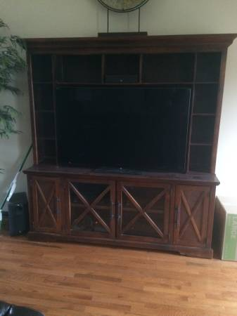 Entertainment Center $450 View on Craigslist