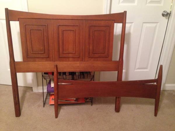 Pair of Mid Century Twin Beds $50 This is a really good for the pair (or purchase one for $30). View on Craigslist