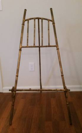 Faux Bamboo Metal Easel $85 View on Craigslist
