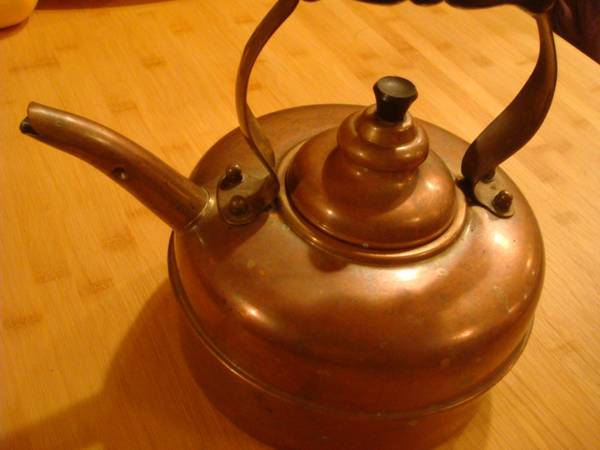 Copper Kettle $20 This copper kettle would be a great display piece in your kitchen. View on Craigslist