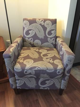 Paisley Upholstered Chair     $75     View on Craigslist