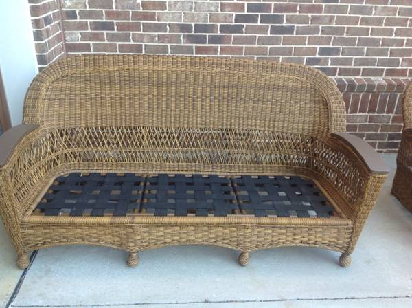 Woven Rattan Patio Sofa $115 View on Craigslist