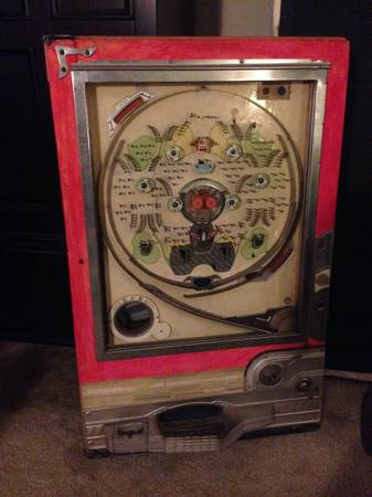 Antique Japanese Pinball Machine     $40   This would be a fun piece to hang on the wall.    View on Craigslist