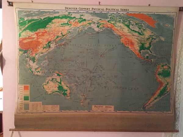 Vintage School Map     $75   I love this map - would look fabulous hanging on the wall.    See on Pinterest      View on Craigslist