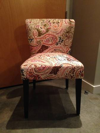 Paisley Upholstered Chair     $30     View on Craigslist