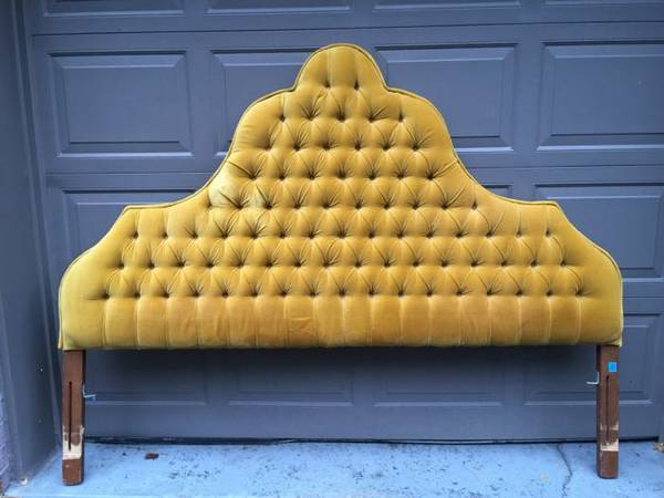 Vintage Tufted Headboard     $135     View on Craigslist