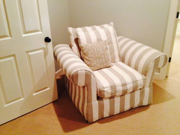 Striped Linen Club Chair     $200     View on Craigslist