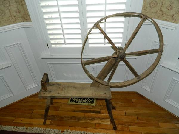 Antique Child's Spinning Wheel     $29   This would make a great decorative piece.    View on Craigslist