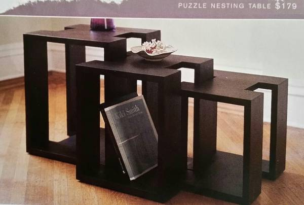West Elm Nesting Tables $45 View on Craigslist