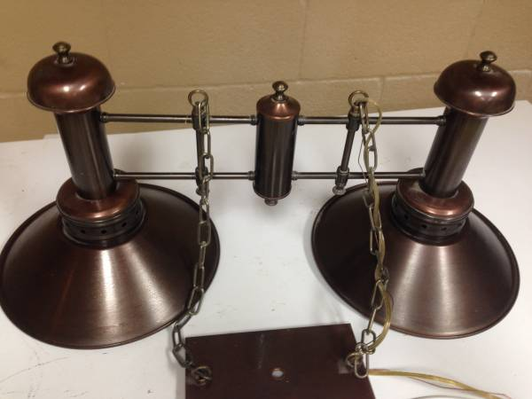 Copper Light Fixture     $200   This seller has 2 lights available - a 2 light (above) and a 3 light ($350).    View on Craigslist