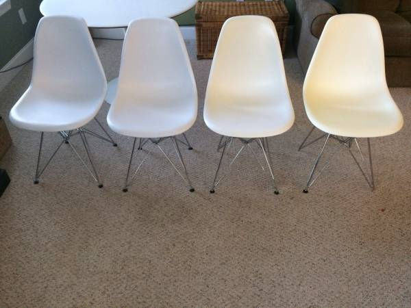 Set of 4 Eames Style Chairs     $250     See on Pinterest      View on Craigslist