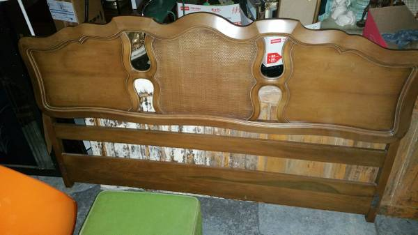 King Size Headboard     $85   This would look great painted.    View on Craigslist