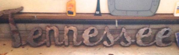 Metal Tennessee Sign     $75     View on Craigslist