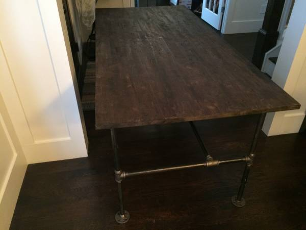 "Custom Built Desk/Table     $225   This pieces is 77"" long so it could work as a desk for a large space or even a dining table.    View on Craigslist"