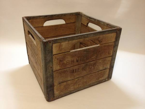 Nashville Milk Co. Wood Crate     $40     View on Craigslist