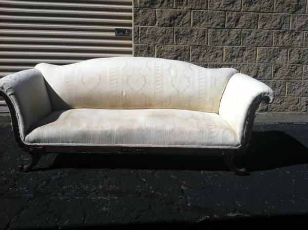 Vintage Sofa     $60   This would be a great piece to have reupholstered and at $60 its a good deal.     View on Craigslist