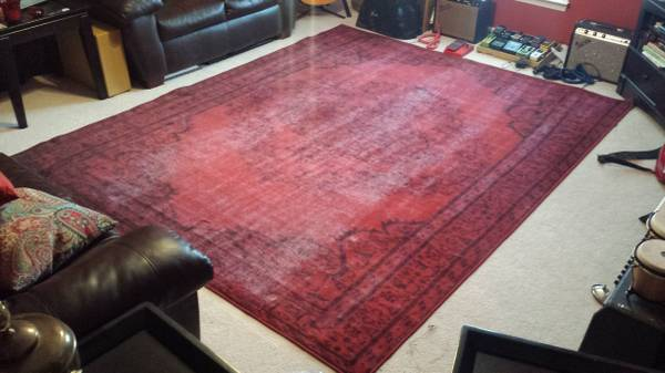 8' x 10' Overdyed Rug     $200     View on Craigslist