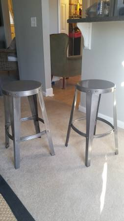Pair of Industrial Metal Stools     $70     View on Craigslist