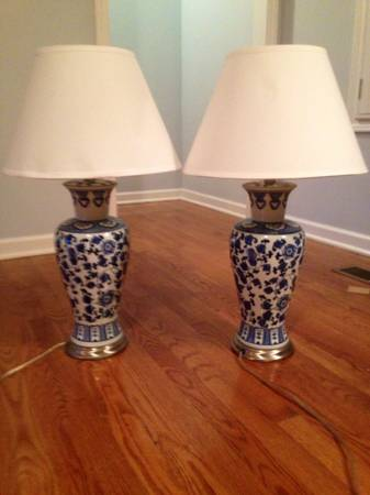 Pair of Blue and White Lamps     $35     View on Craigslist
