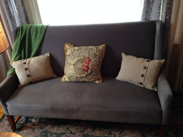 Gray Banquette $200 View on Craigslist