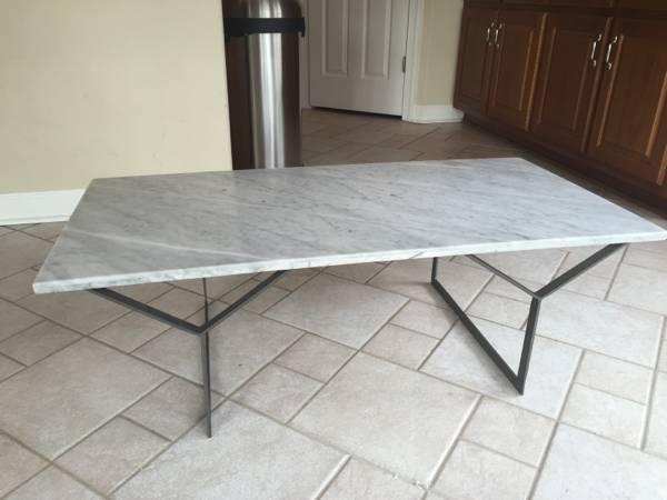 West Elm Marble Coffee Table     $200     View on Craigslist