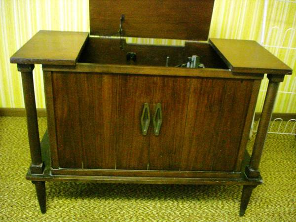 Vintage Silverstone Stereo Cabinet     $75   The record player in this piece still works, however it would also be a great piece to repurpose.    View on Craigslist