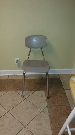 Metal School Chairs     $5   There are 38 available.    View on Craigslist