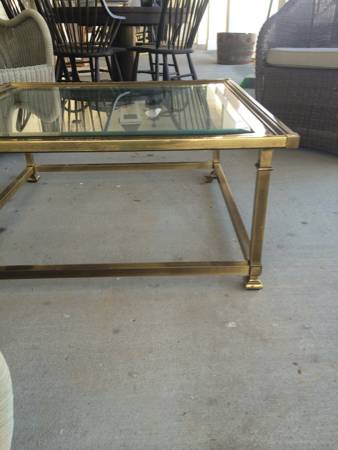 Brass Coffee Table and End Table $50 View on Craigslist