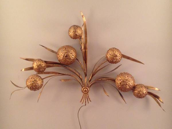 Vintage Brass Wall Art/Light $130 View on Craigslist