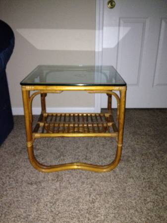 Rattan Coffee and End Table Set     $90     View on Craigslist