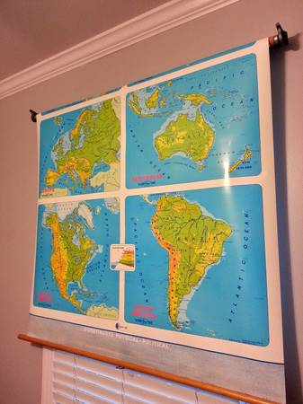 Vintage Classroom Map     $125     View on Craigslist