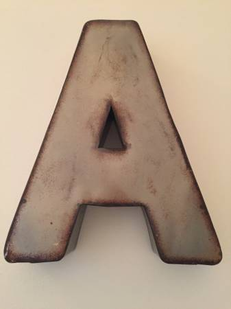 "Antique Metal ""A""     $50     View on Craigslist"