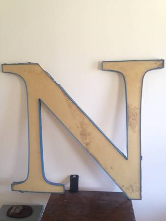 "Sign Letter ""N"" $30 View on Craigslist"