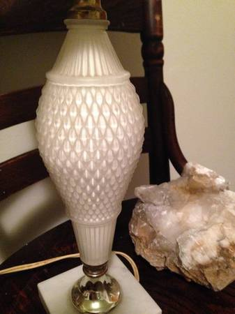 Vintage Glass Lamps     $17 each   There are 3 identical lamps available.    View on Craigslist