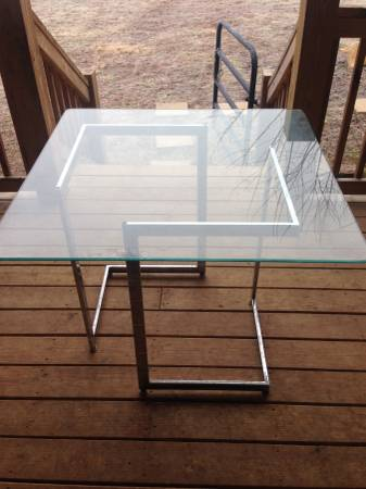 Vintage Modern Glass Table $100 View on Craigslist