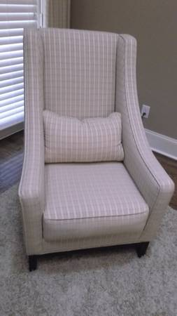 Pair of High Back Chairs $125 each View on Craigslist