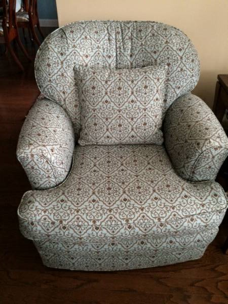 Pair of Swivel Rocking Chairs     $200   I think one of these chairs would be perfect in a nursery.    View on Craigslist