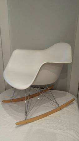 Eames Style White Rocker     $200     View on Craigslist