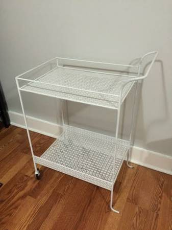 White Metal Cart     $55     View on Craigslist