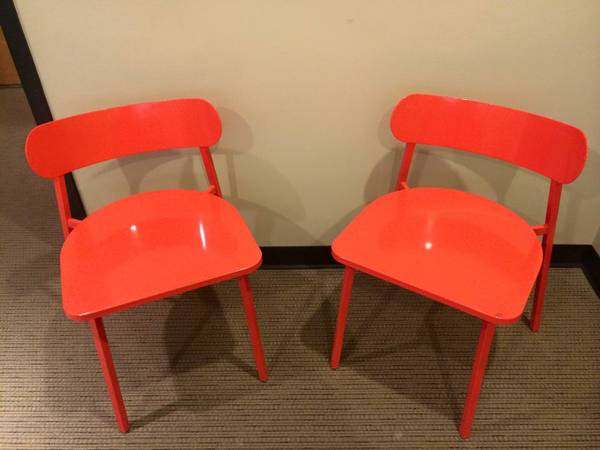 Pair of Crate and Barrel Chairs     $150   These chairs retailed for $400.     View on Craigslist