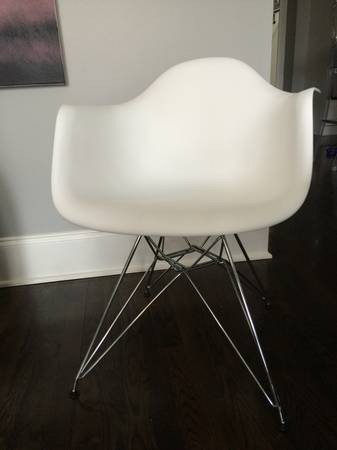 Pair of White Pyramid Chairs     $100     View on Craigslist