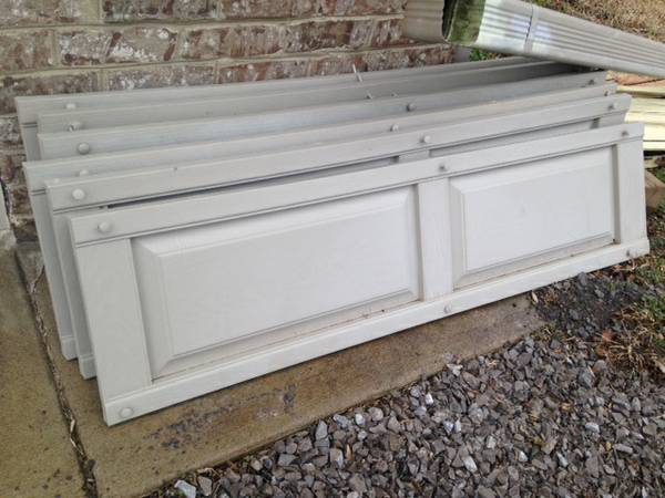 16 Gray Shutters     $150   This is a great deal on shutters and could be easily painted any color.     View on Craigslist