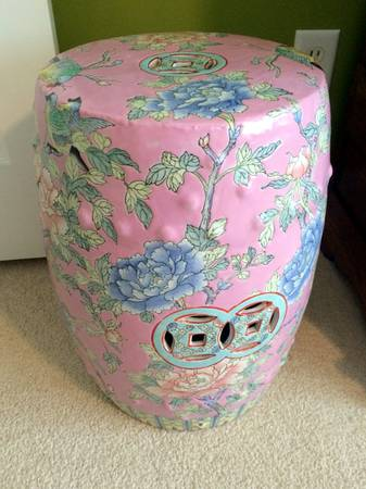 Hand Painted Garden Stool $80 View on Craigslist
