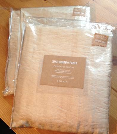 Pair of West Elm Curtains     $25     View on Craigslist