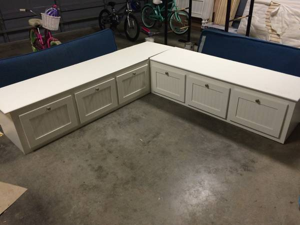 Built in Seating $175 This would be perfect for an eat in kitchen, just needs some cushions.  View on Craigslist