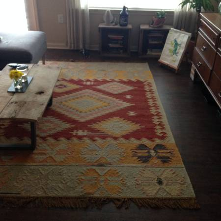 Pottery Barn 5' x 8' Rug $175 View on Craigslist