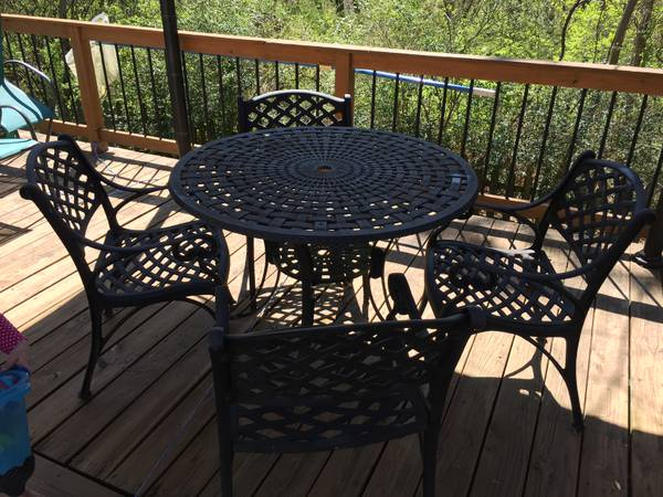 Wrought Iron Patio Set $100 View on Craigslist