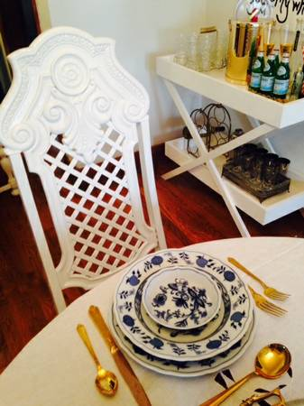 White Dining Chairs (4) $125 each View on Craigslist