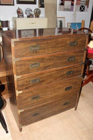Campaign Style Dresser and Nightstands $199 These would look fabulous painted! See on Pinterest  View on Craigslist