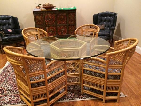 Rattan Table and Chairs     $250     View on Craigslist